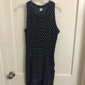 Old Navy white and navy striped dress
